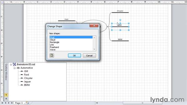 Changing the look of the topic shapes: Visio 2010 Essential Training