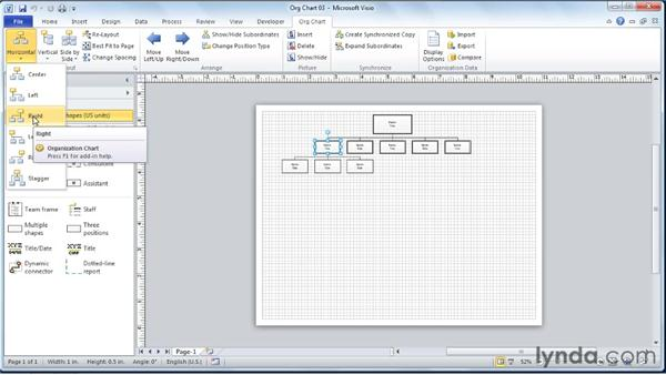 Defining alternate layouts for subordinate SmartShapes: Visio 2010 Essential Training