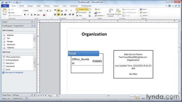 The top-level node: Visio 2010 Essential Training