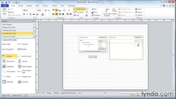 Creating prototype dialogs, wizards, and application windows: Visio 2010 Essential Training