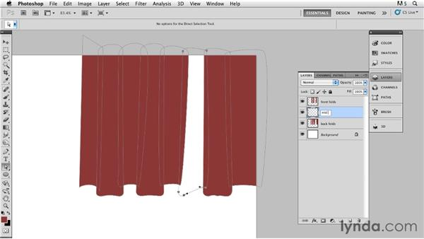 Creating curtains with a bottom edge: Bert Monroy: The Making of Times Square, The Techniques