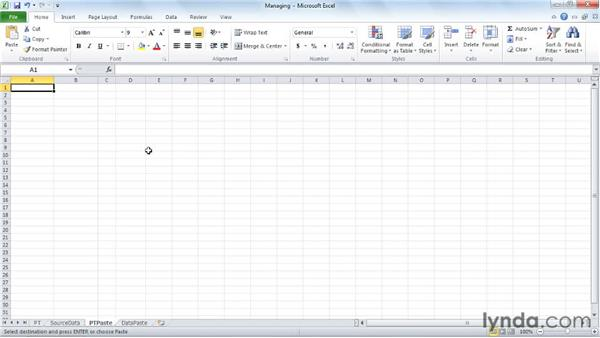 Managing PivotTables: Excel 2010: Pivot Tables in Depth