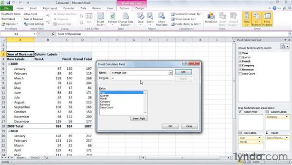 Creating a calculated field: Excel 2010: Pivot Tables in Depth