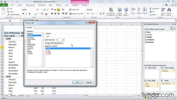: Excel 2010: Pivot Tables in Depth