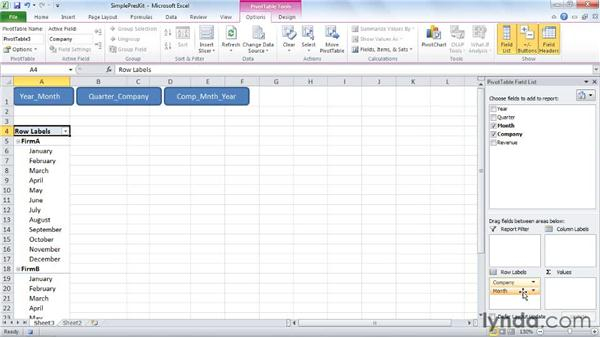 creating a simple pivottable presentation kit