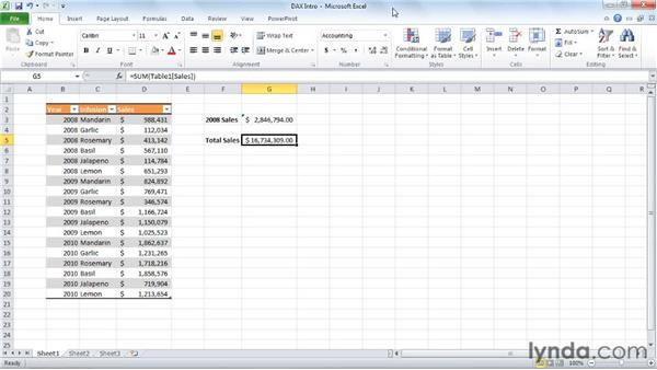 Introducing the DAX language: Excel 2010: Pivot Tables in Depth