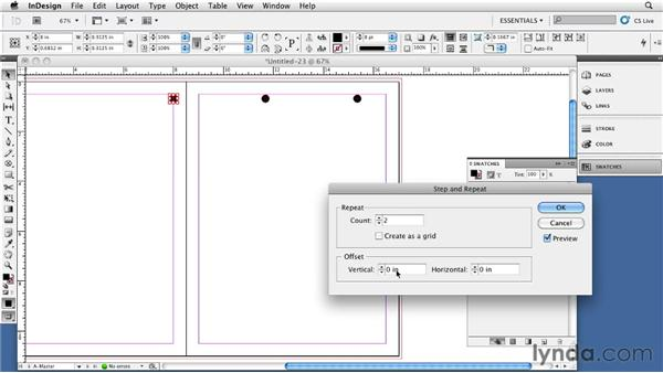 Creating a drill edge: InDesign CS5: Print Production Guidelines