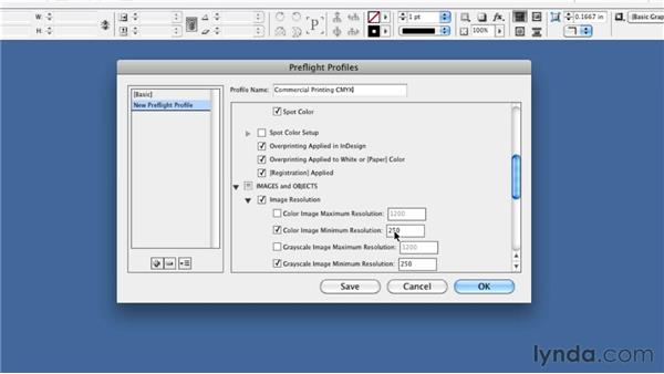 Creating profiles: InDesign CS5: Print Production Guidelines