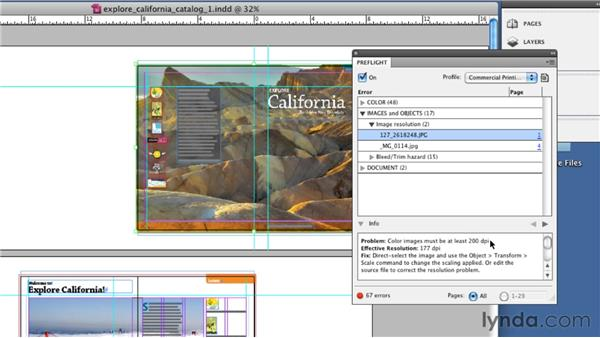 Looking at the results: InDesign CS5: Print Production Guidelines