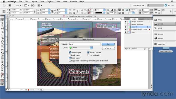 Using layers: InDesign CS5: Print Production Guidelines