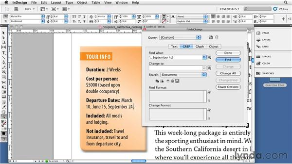 Understanding Conditional Text and GREP: InDesign CS5: Print Production Guidelines