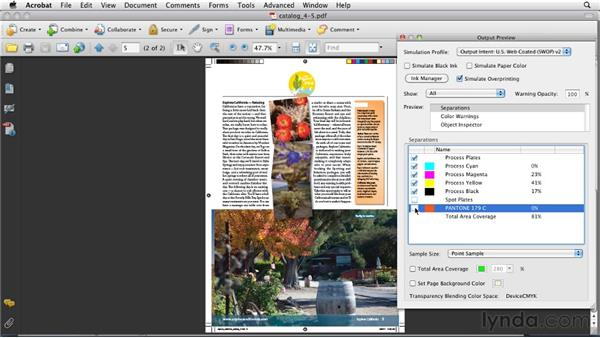 Using the Separations Preview panel: InDesign CS5: Print Production Guidelines