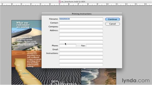 Packaging your files: InDesign CS5: Print Production Guidelines