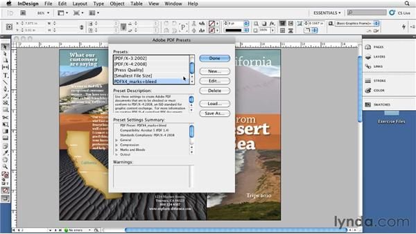 Using Adobe PDF presets: InDesign CS5: Print Production Guidelines