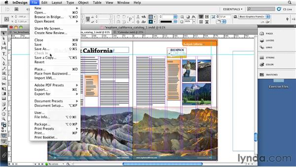 Using single pages vs. spreads: InDesign CS5: Print Production Guidelines