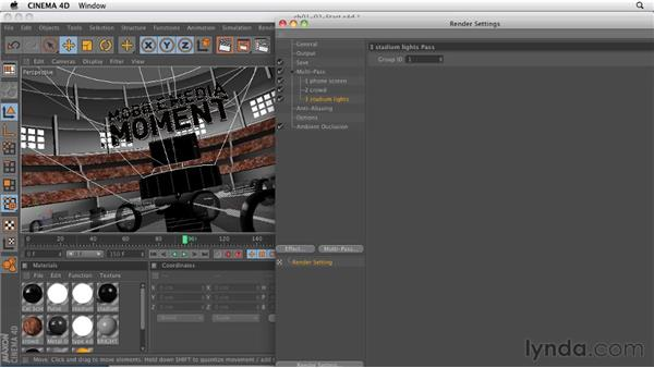Setting up an object buffer list: CINEMA 4D: Rendering Motion Graphics for After Effects