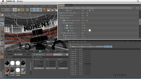 Creating an external compositing tag: CINEMA 4D: Rendering Motion Graphics for After Effects