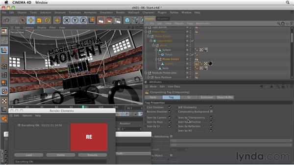Creating render passes using the Render Elements plug-in: CINEMA 4D: Rendering Motion Graphics for After Effects