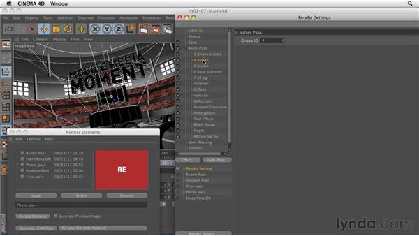Using Render Elements to optimize render passes: CINEMA 4D: Rendering Motion Graphics for After Effects
