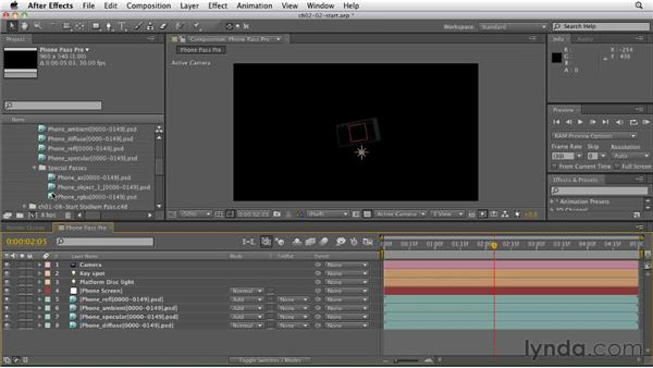Creating a 3D object precomp: CINEMA 4D: Rendering Motion Graphics for After Effects