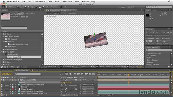 Attaching a video layer to a 3D object: CINEMA 4D: Rendering Motion Graphics for After Effects