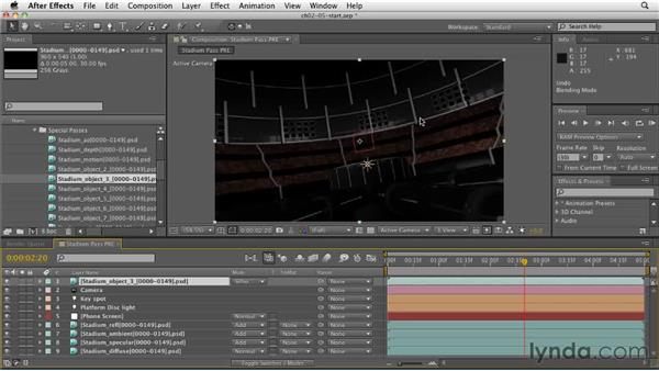 Compositing a dynamic 3D background: CINEMA 4D: Rendering Motion Graphics for After Effects