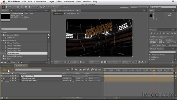 Setting markers for major events: CINEMA 4D: Rendering Motion Graphics for After Effects