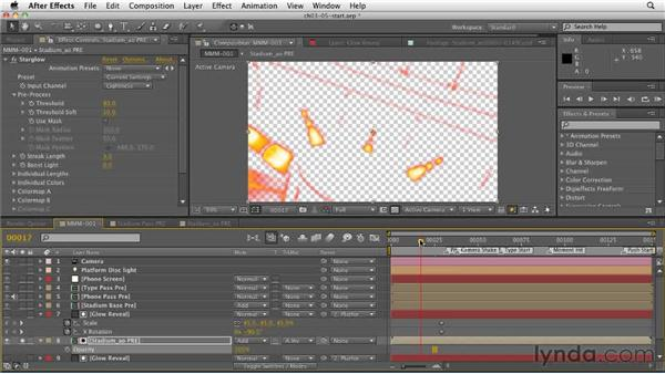 Using the Ambient Occlusion glow to create an energy animation: CINEMA 4D: Rendering Motion Graphics for After Effects