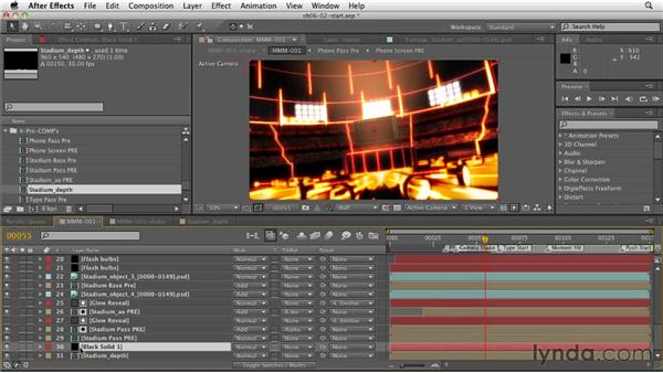 Adding depth of field with the Lens Blur effect: CINEMA 4D: Rendering Motion Graphics for After Effects
