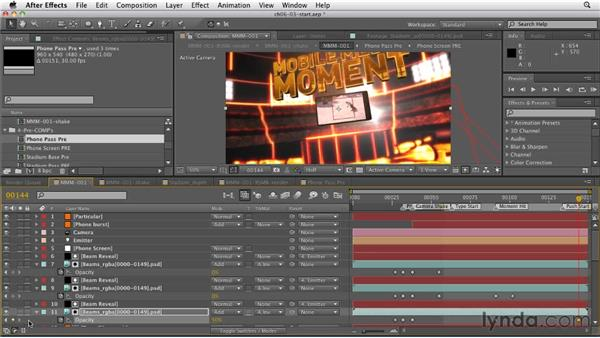 Transitioning to full-screen video: CINEMA 4D: Rendering Motion Graphics for After Effects