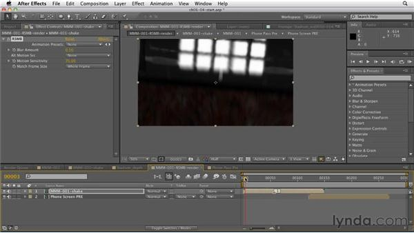 Using the ReelSmart Motion Blur effect: CINEMA 4D: Rendering Motion Graphics for After Effects