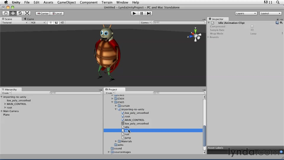 Making read/write animations using UnityScript Editor
