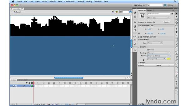 Caching an instance as a bitmap with an opaque background: Flash Professional CS5.5 New Features
