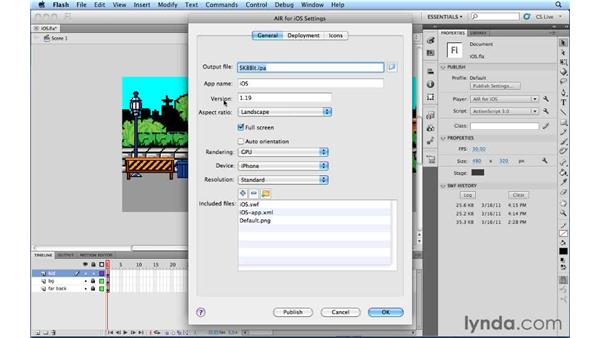 Using the new features in the AIR for iOS SDK: Flash Professional CS5.5 New Features