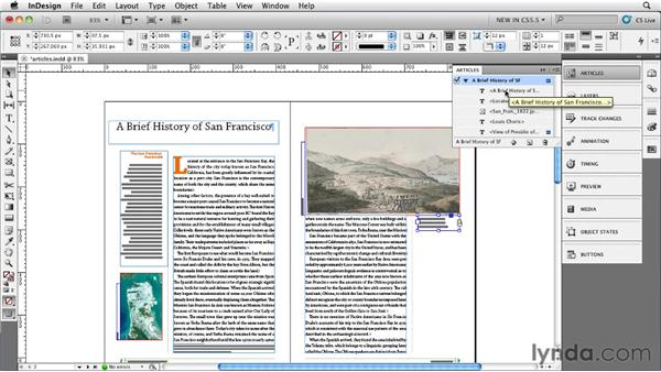 Using the Article panel: InDesign CS5.5 New Features