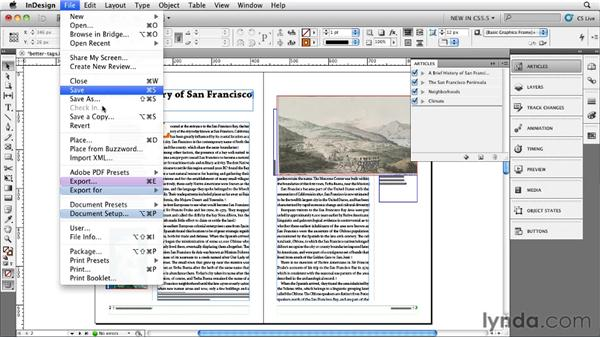 Exporting the improved tagged PDFs: InDesign CS5.5 New Features