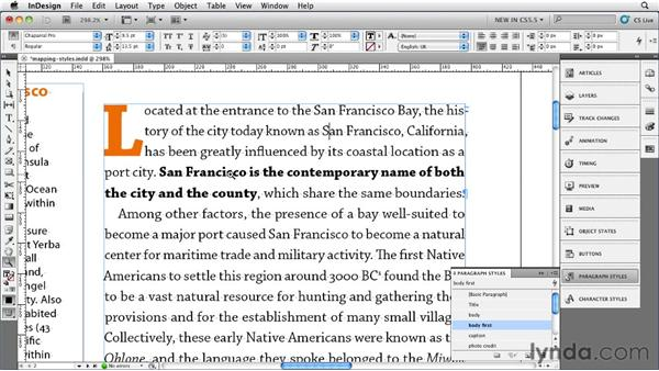 Mapping styles to export tags: InDesign CS5.5 New Features