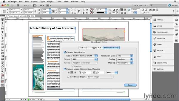 Exploring the Object Export options: InDesign CS5.5 New Features