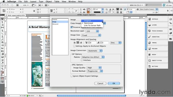 Reviewing the new HTML Export options: InDesign CS5.5 New Features