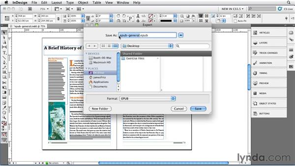 Exploring the General Export options: InDesign CS5.5 New Features