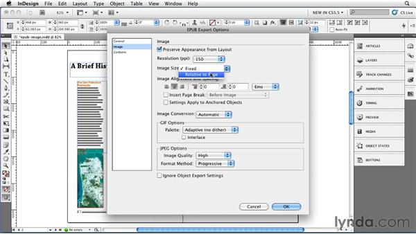 Exploring the Image Export options: InDesign CS5.5 New Features