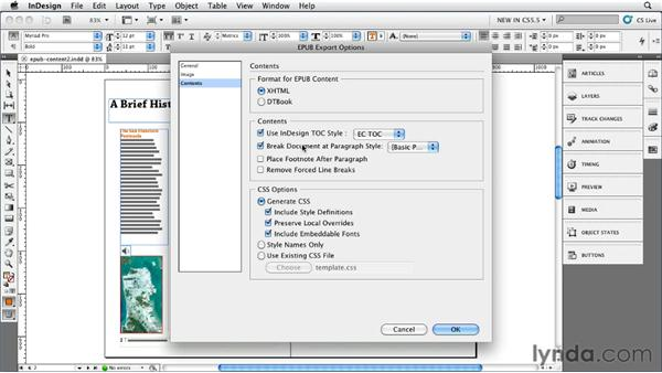 Exploring the Content Export options: InDesign CS5.5 New Features