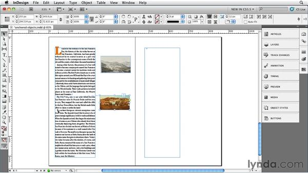 Dragging and dropping anchored objects: InDesign CS5.5 New Features
