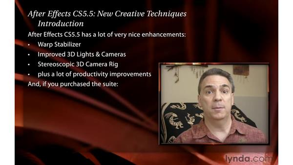 Welcome: After Effects CS5.5 New Creative Techniques