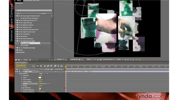 3D light falloff: After Effects CS5.5 New Creative Techniques