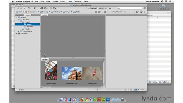 Renaming a series of files in Adobe Bridge: Create an Interactive Photo Gallery with jQuery and Dreamweaver
