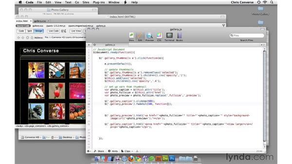 Setting a dissolve transition between previews: Create an Interactive Photo Gallery with jQuery and Dreamweaver