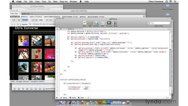 Creating a custom function for lightbox properties: Create an Interactive Photo Gallery with jQuery and Dreamweaver