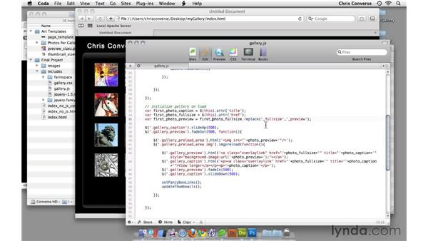 Initializing the gallery on page load: Create an Interactive Photo Gallery with jQuery and Dreamweaver