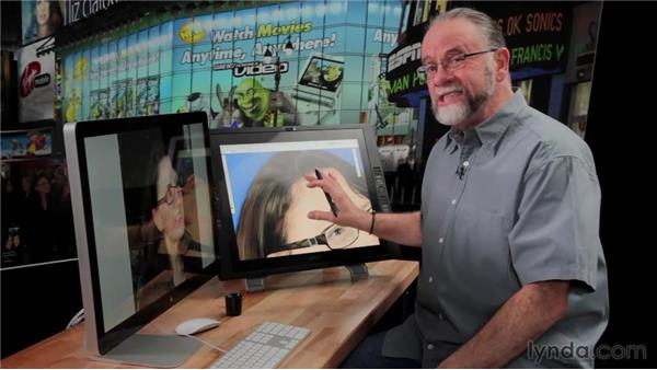 Using a Cintiq to create realistic hair: Bert Monroy: The Making of Times Square, The People